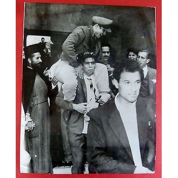 CYPRUS 1959 REAL PHOTO EOKA MEN RELEASED IN NICOSIA AFTER COMING OUT OF HIDING-moneyworld-store