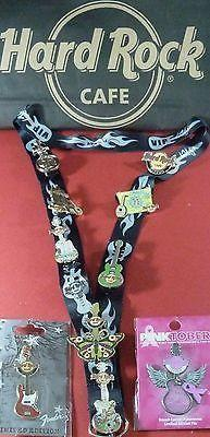 CYPRUS HARD ROCK CAFE*11 PINS&LANYARD BACKSTAGE PASS* DISCONTINUED-moneyworld-store