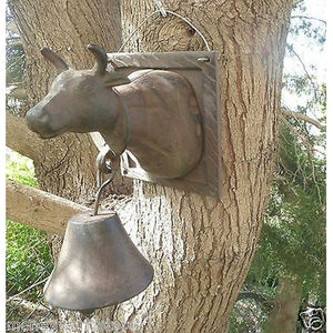 GREECE 1950's HANDMADE VINTAGE COW BELL SHARP MELODY,17X19CM,OLD-moneyworld-store