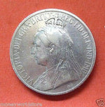 CYPRUS SILVER COIN 1901 9 PIASTRES VERY FINE+,FULL LUSTER! KM#6-moneyworld-store