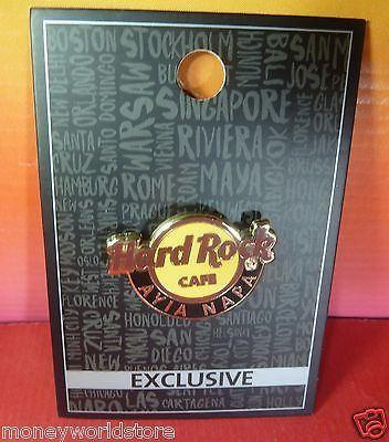 Hard Rock Cafe Ayia Napa 2016 Hard Rock Logo Button Pin HRC-moneyworld-store