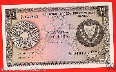 "CYPRUS 1978 £1 POUND BANKNOTE GEM UNC "" NO.L/96 131843 ""P#43c,RARE-moneyworld-store"