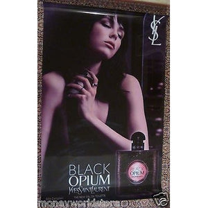 GIANT ADVERTISING POSTER BLACK OPIUM 200 x 125 CM YVES SIANT LAURENT,CAMPBELL-moneyworld-store