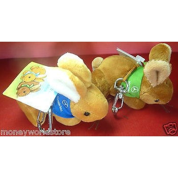 MERCEDES-BENZ DRIVERS LINE COLLECTION 2 *CUDDLY RABBIT KEY-RING 8 CM*-moneyworld-store