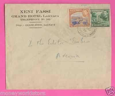 CYPRUS 1939 COVER KGVI-moneyworld-store
