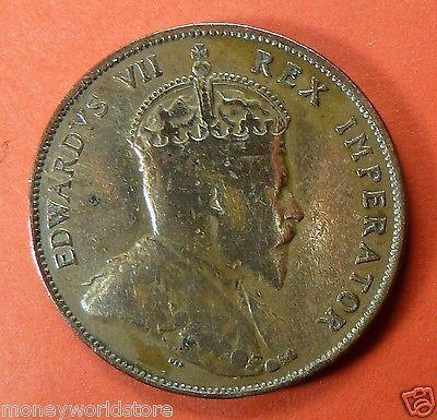 CYPRUS 1 PIASTRE 1908,VF+ LUSTRE,KING EDWARD VII-moneyworld-store