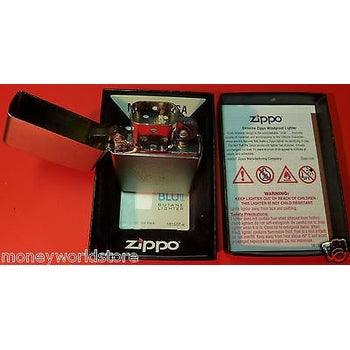 USA ZIPPO *UN LIGHTER* COLLECTIBLE,SATIN CHROME,NEW,IN ORIGINAL BOX-moneyworld-store