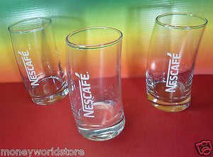 Nescafe Collectible 3 Glass For Greek Frappe Limited New Design-moneyworld-store