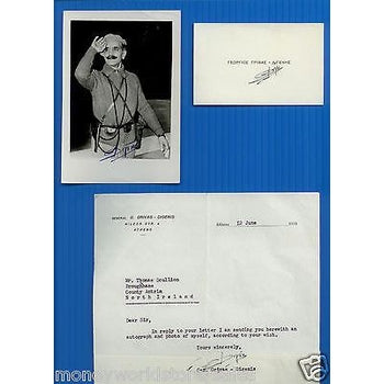 CYPRUS 1959 ORIGINAL GRIVAS DIGENIS SIGNED* PHOTO,AUTOGRAPH,LETTER SCULLION,EOKA-moneyworld-store