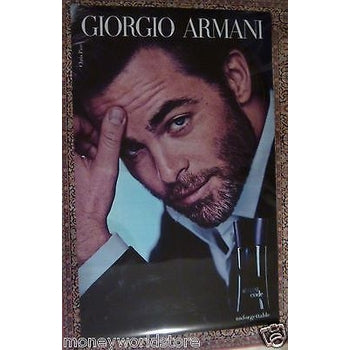 GIORGIO ARMANI CODE GIANT ADVERTISING POSTER 200 x 125 CM ORIGINAL EXCELLENT-moneyworld-store