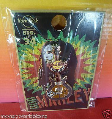 Hard Rock Cafe Ayia Napa 2016 Bob Marley signature Guitar Pin HRC LE-moneyworld-store
