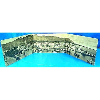 CYPRUS POSTCARD*PANORAMA KYRENIA*KERYNIA TRIPLE VIEW,FOSCOLO N3816 22-moneyworld-store