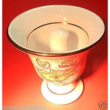 HANDMADE POPCELAIN WHITE 24K GOLD *PYTHAGORAS FAIR CUP *NEW,GREECE-moneyworld-store