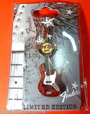 CYPRUS HARD ROCK CAFE 2012 * FENDER GUITAR PIN * NEW,LIMITED EDITION,DISCONTINUE-moneyworld-store