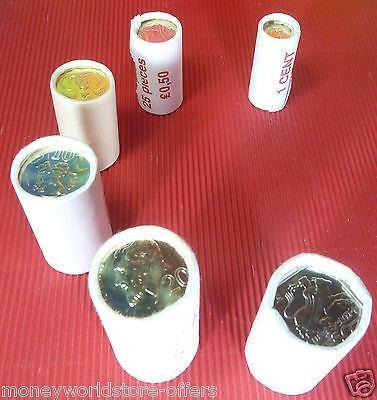 CYPRUS 2004 SET LAST CENT OF 6 MINT ROLLS(6 VALUE)X25 BU COINS EACH PRE EURO-moneyworld-store