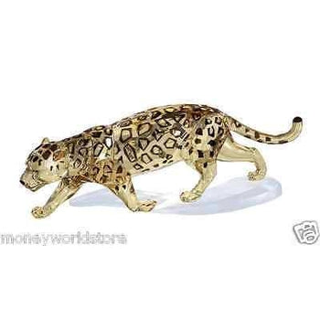 Swarovski Crystal Jaguar Golden 1096796 NEW With COA,lovely-moneyworld-store