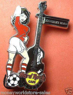 HARD ROCK CAFE LONDON 2014 HRC SOCCER GIRL SERIES 2 PIN,LE300,HIGHBURY ROAD,MINT-moneyworld-store