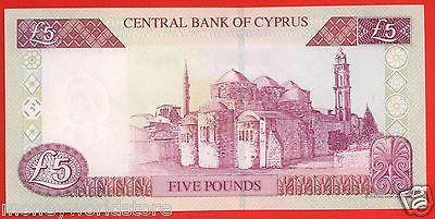 CYPRUS 2003 £5 POUNDS BANKNOTE GEM UNC NO.P000356,LOW NUMBER,P#61B-moneyworld-store