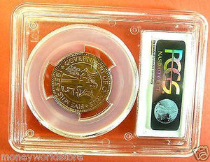 PCGS MS66RD COIN CYPRUS 5 MILS 1955 QEII-moneyworld-store