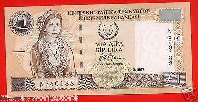 CYPRUS 1997 £1 POUND BANKNOTE,GEM,UNC,NUMBER N540188-moneyworld-store