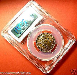 PCGS MS65RD COIN CYPRUS 5 MILS 1955 QEII,FULL LUSTRE-moneyworld-store