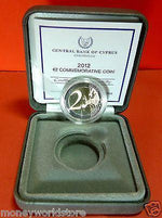 Cyprus 2012 €2 Euro Commemorative PROOF coin in case-moneyworld-store
