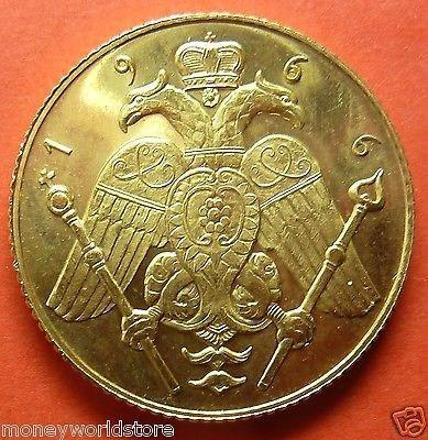 Gold Proof Sovereign 1966 Cyprus Makarios 7.998g RARE-moneyworld-store