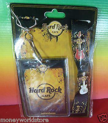 Hard Rock Cafe 1 Start Up Lanyard with 2 pins Gift HRC-moneyworld-store