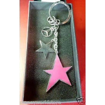 MERCEDES-BENZ COLLECTION * KEY-RING 3 STARS SILVER,GREY,RED* LOVELY-moneyworld-store