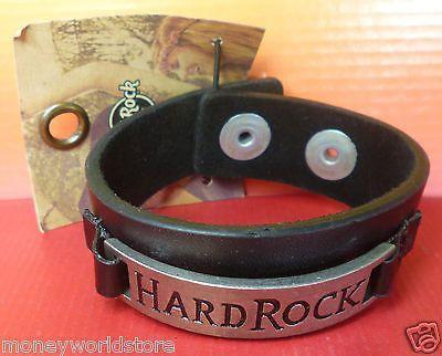 Hard Rock Cafe 1 GUFF BRACELET LEATHER BRAND NEW WITH TAG-moneyworld-store