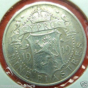 CYPRUS 1919 SILVER COIN,VF+,KM#13-moneyworld-store