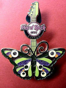 CYPRUS HARD ROCK CAFE 2012 * BUTTERFLY PIN*LIMITED 300,DISCONTINUED-moneyworld-store