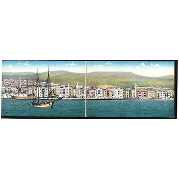 THESSALONIKI PANORAMIC VIEW 4FOLD POSTCARD 1914-1918 JACQUE SAUL-moneyworld-store