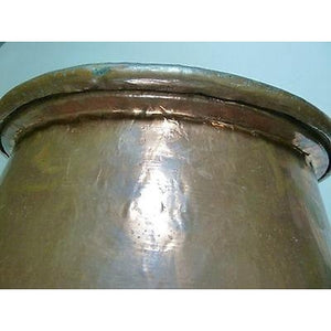 CYPRUS 1950 ANTIQUE COPPER COOKING POT USED,XF,OLD,GREECE,DECOR,HOME,COMPANY-moneyworld-store