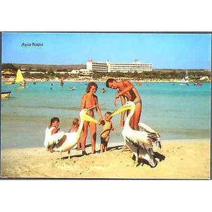 CYPRUS 1960's POSTCARD AYIA NAPA TRIARCHOS MINT NO.596-moneyworld-store
