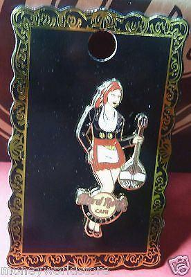 HARD ROCK CAFE CYPRUS 2012 -NICOSIA*GREEK LADY GUITAR PIN*LE,NEW,DISCONTINUED-moneyworld-store
