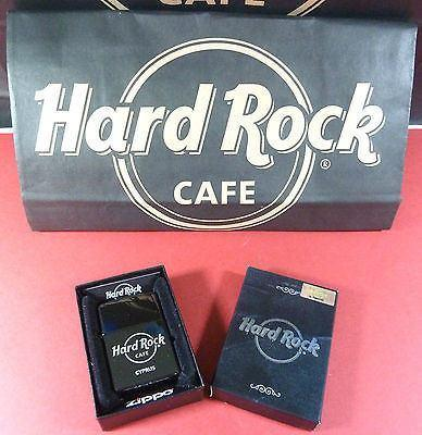 CYPRUS HARD ROCK CAFE 2012,EBONY SILVER*ZIPPO CIGARETTE LIGHTER-moneyworld-store