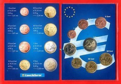 Cyprus BU 2008 Euro Coins in a collectors case-moneyworld-store