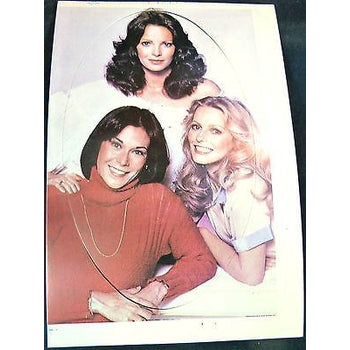 CHARLIE'S ANGELS TV SERIES STICKER CARD LATE 70'S JACKSON, LADD, SMITH-moneyworld-store