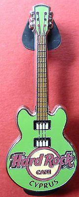CYPRUS HARD ROCK CAFE 2012 *CORE GREEN GUITAR* PIN,NEW, DISCONTINUED ,FANS GIFT-moneyworld-store