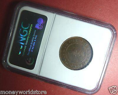 NGC AU58 Cyprus 1931 1/2 Piastre Bronze Coin KM# 17 KING GEORGE V-moneyworld-store