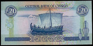 CYPRUS 1993 £20 POUNDS BANKNOTE GEM UNC NO.G190348,P56b-moneyworld-store