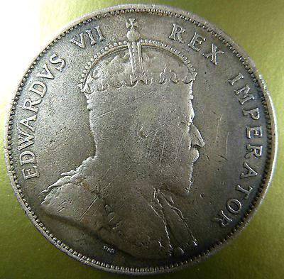 CYPRUS 1 PIASTRE 1908, VF+,KING EDWARD VII-moneyworld-store