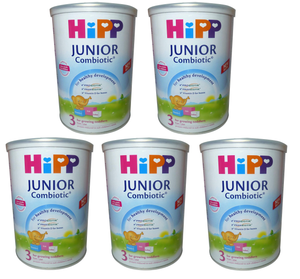 HiPP Junior Combiotic 3 Growing Up Milk From first year (5 tins x 350g)-moneyworld-store