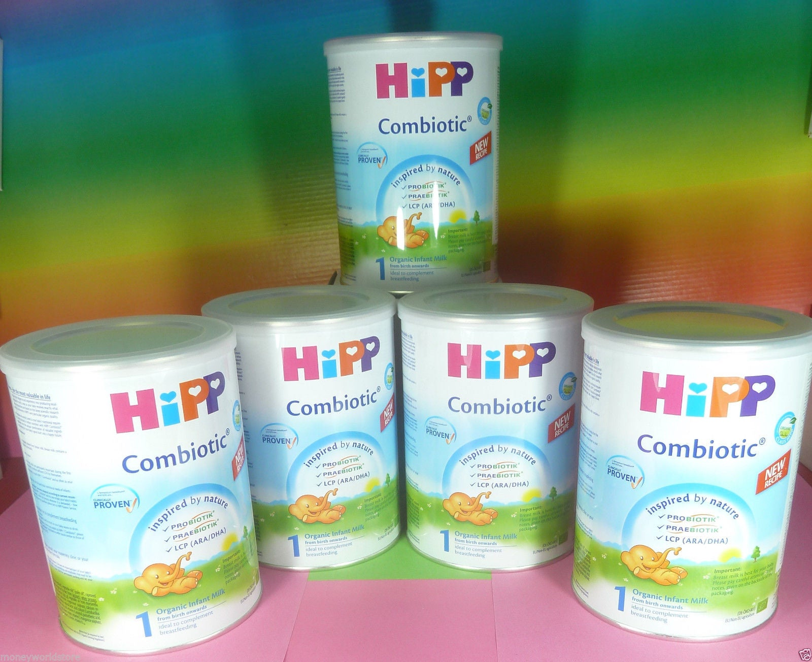 HiPP Combiotic 1 infant Milk From Birth Onwards Organic (5 tins x 350g)-moneyworld-store
