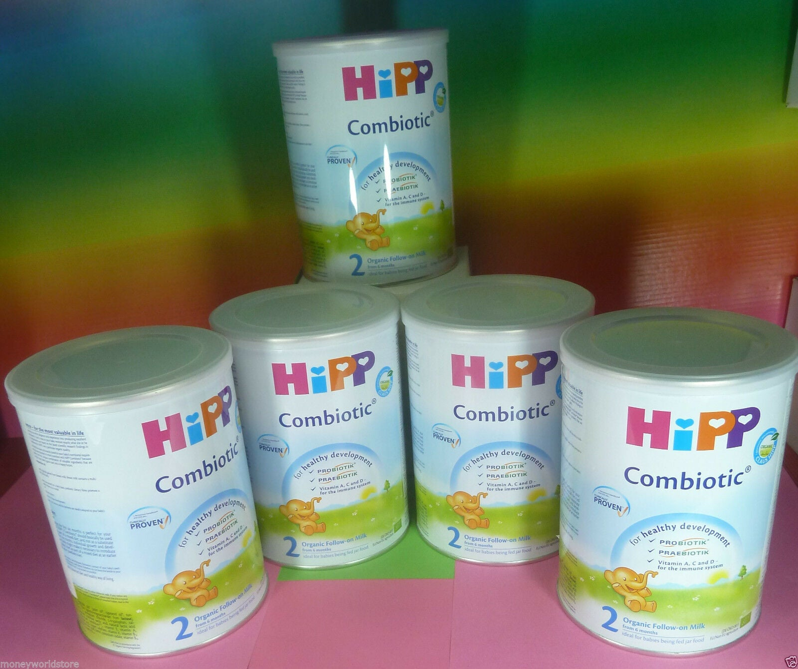 HiPP Combiotic 2 Organic Follow on milk from 6 months (5 tins x 350g)-moneyworld-store