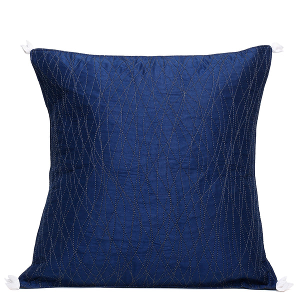 Neel waves quilted cushion cover