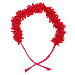 Red Mogra Gajra Hair Accessory
