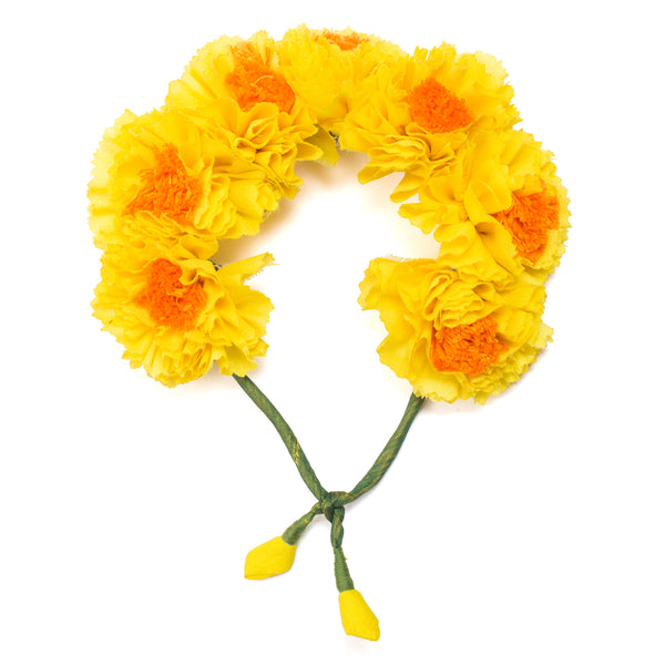 Yellow Genda Phool Gajra Hair Accessory