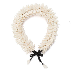 Off White Mogra Gajra Hair Accessory for heavy hair